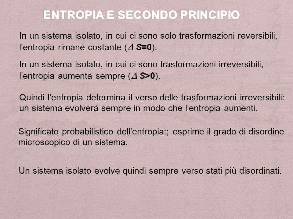 Entropia e secondo principio