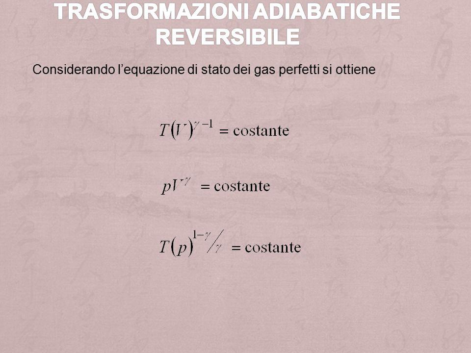 Trasformazioni adiabatiche reversibile