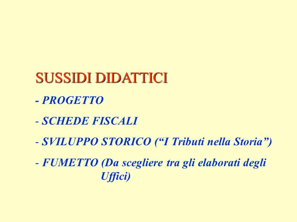 SUSSIDI DIDATTICI - PROGETTO SCHEDE FISCALI
