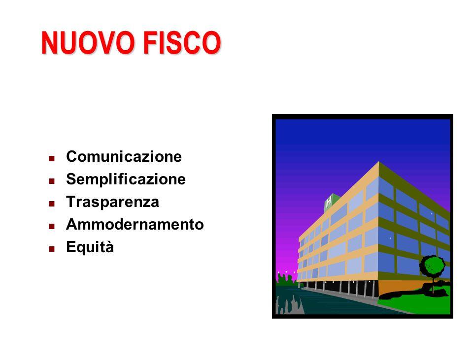 NUOVO FISCO Comunicazione Semplificazione Trasparenza Ammodernamento