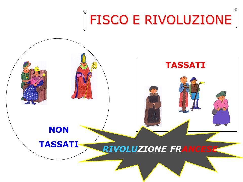 FISCO E RIVOLUZIONE TASSATI NON TASSATI RIVOLUZIONE FRANCESE