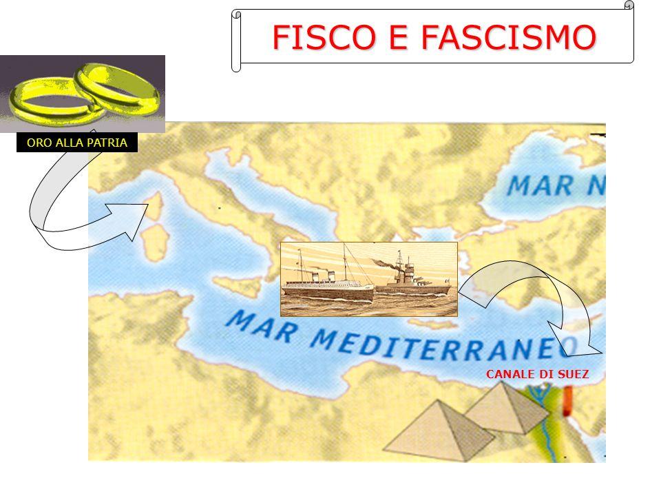 FISCO E FASCISMO ORO ALLA PATRIA CANALE DI SUEZ
