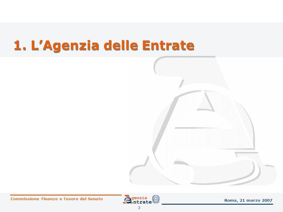 1. L'Agenzia delle Entrate