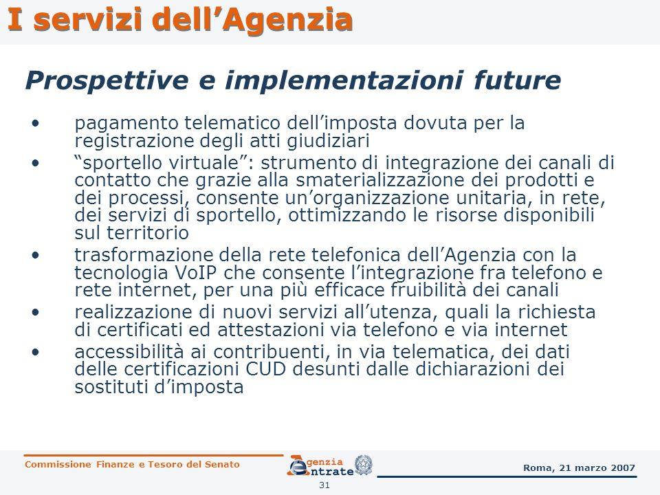 Prospettive e implementazioni future