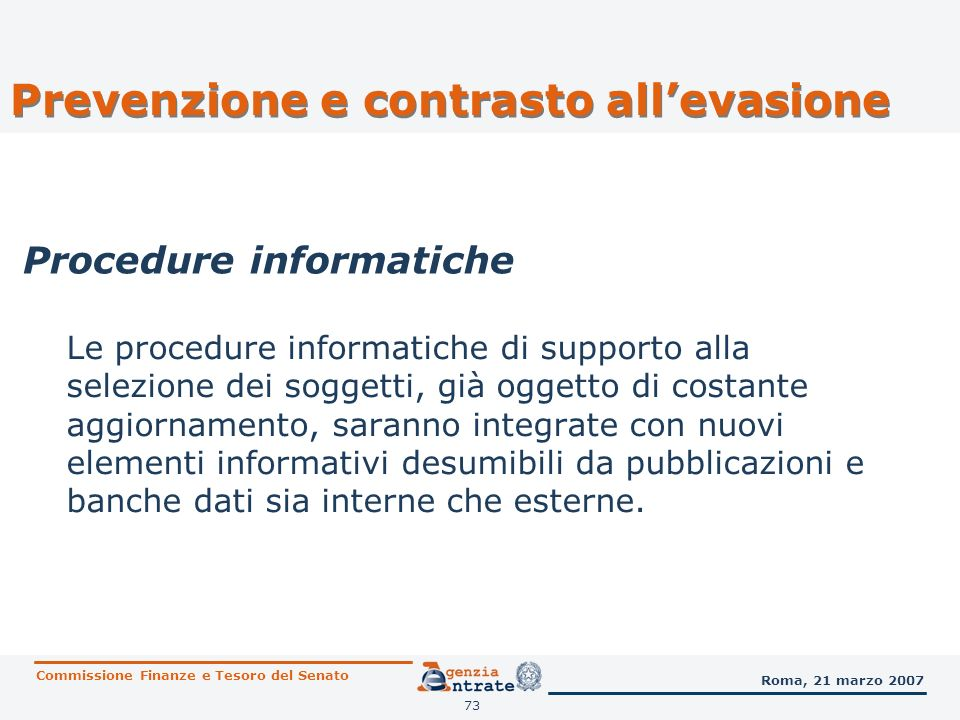 Procedure informatiche