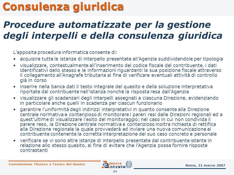 Consulenza giuridicaProcedure automatizzate per la gestione degli interpelli e della consulenza giuridica.