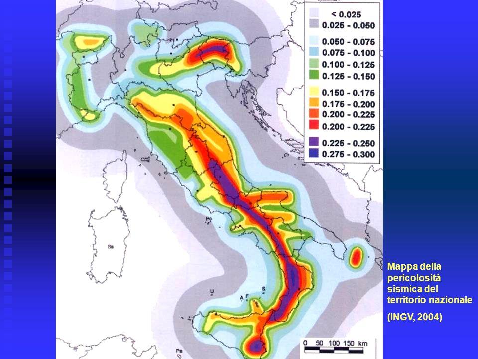 Mappa della pericolosità sismica del territorio nazionale