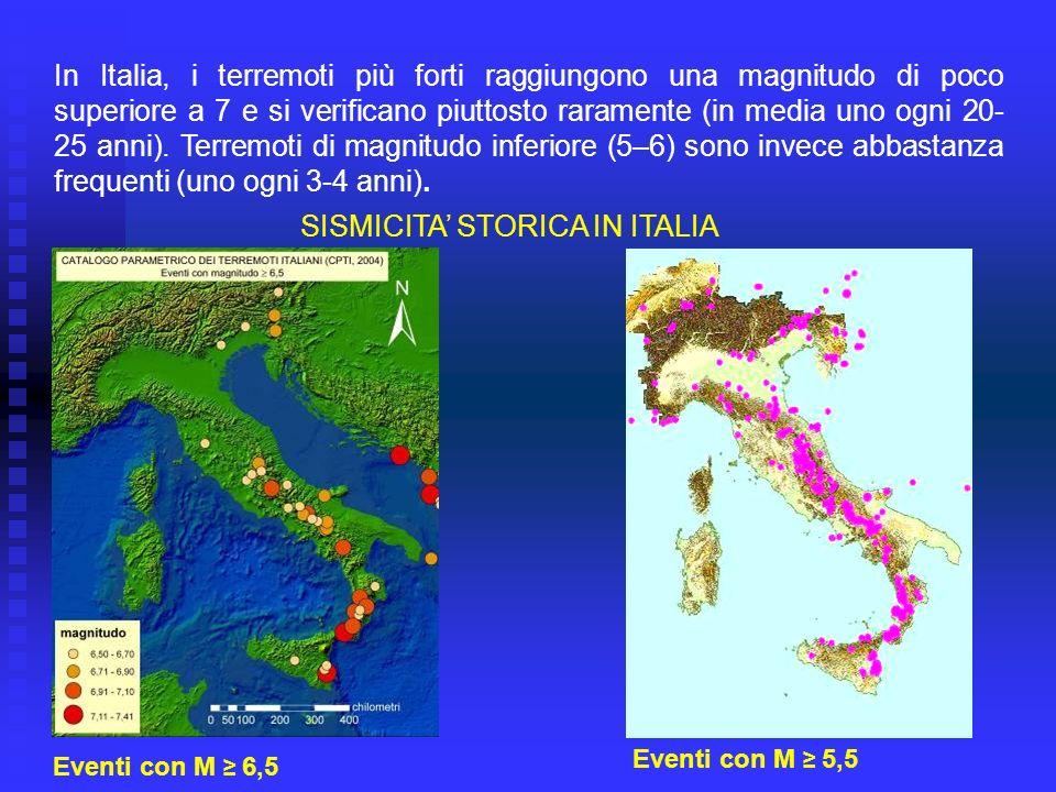 SISMICITA' STORICA IN ITALIA