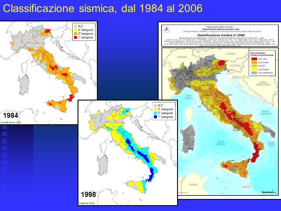 Classificazione sismica, dal 1984 al 2006