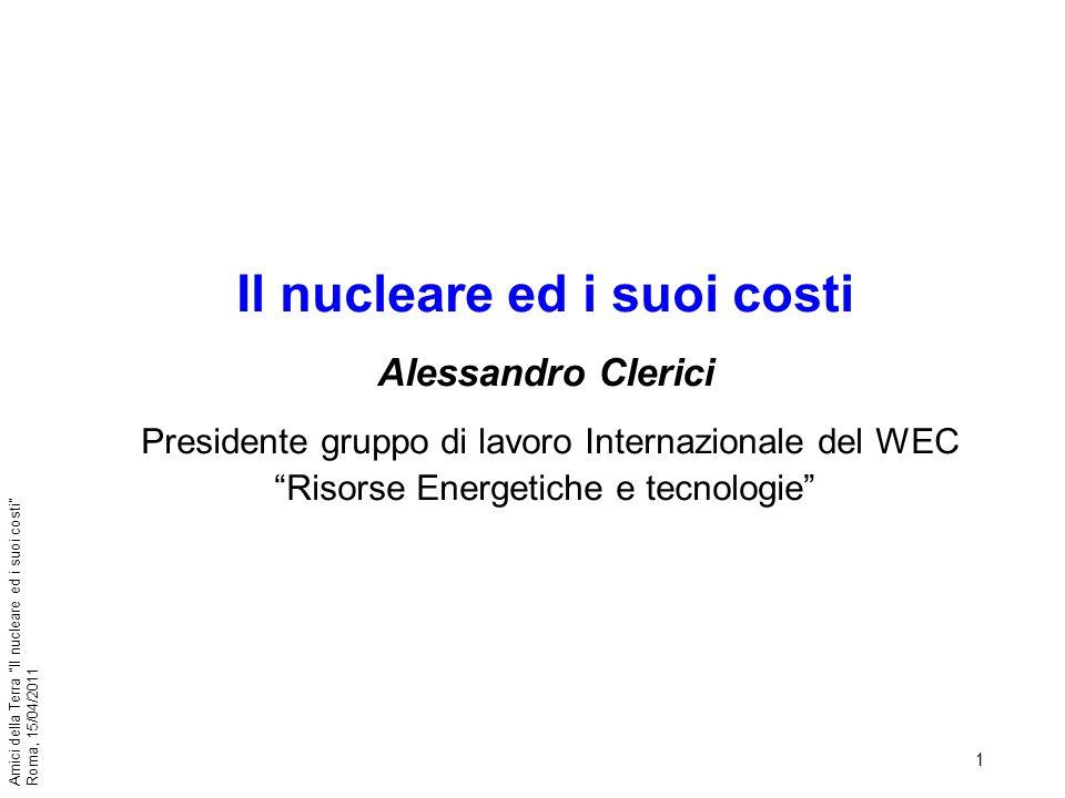 Il nucleare ed i suoi costi