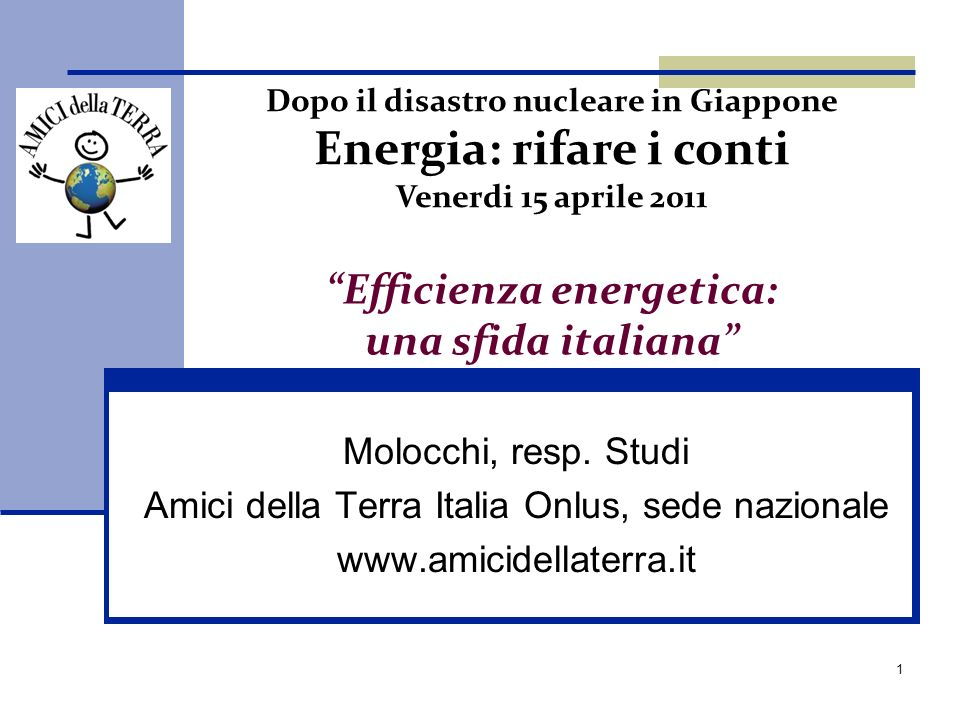 Efficienza energetica: una sfida italiana