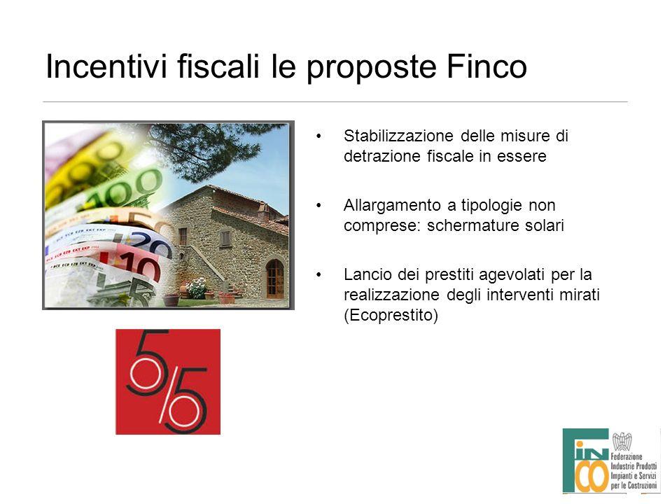 Incentivi fiscali le proposte Finco