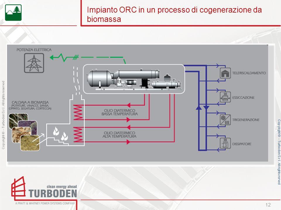 Impianto ORC in un processo di cogenerazione da biomassa