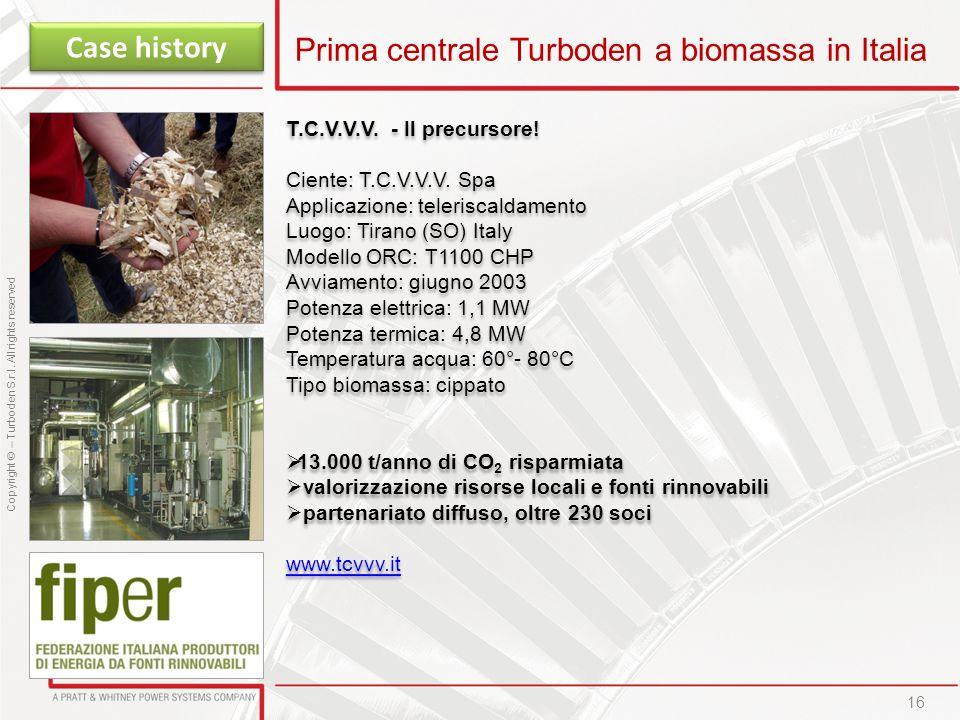 Prima centrale Turboden a biomassa in Italia