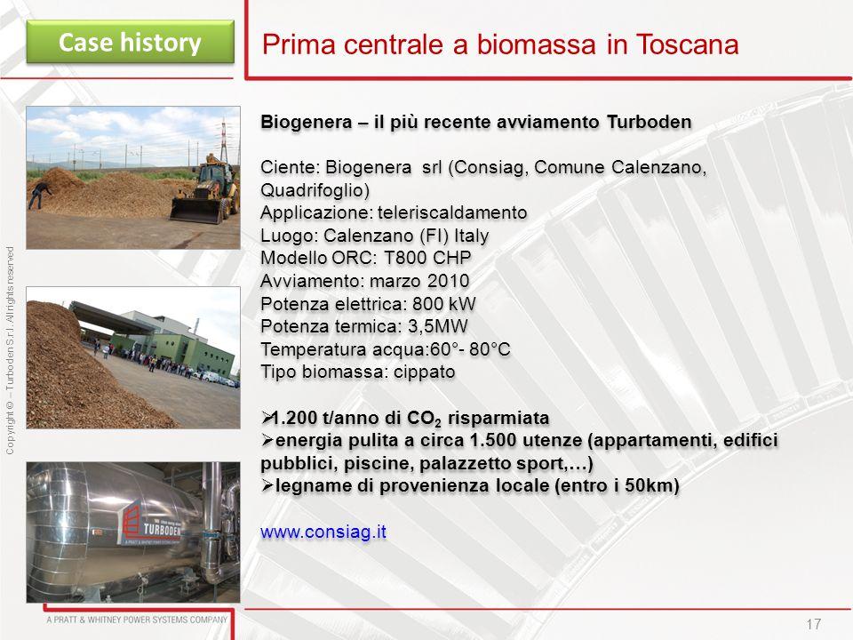 Prima centrale a biomassa in Toscana
