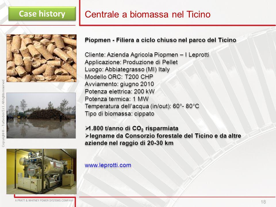 Centrale a biomassa nel Ticino