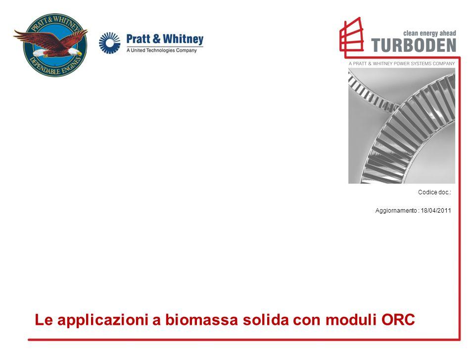 Le applicazioni a biomassa solida con moduli ORC
