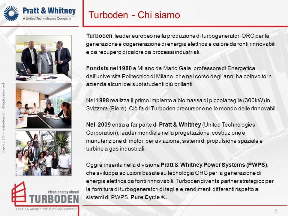 Turboden - Chi siamoTurboden, leader europeo nella produzione di turbogeneratori ORC per la.