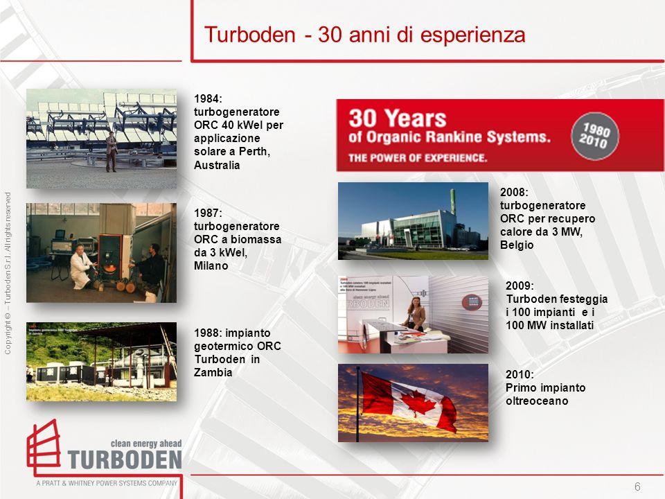 Turboden - 30 anni di esperienza