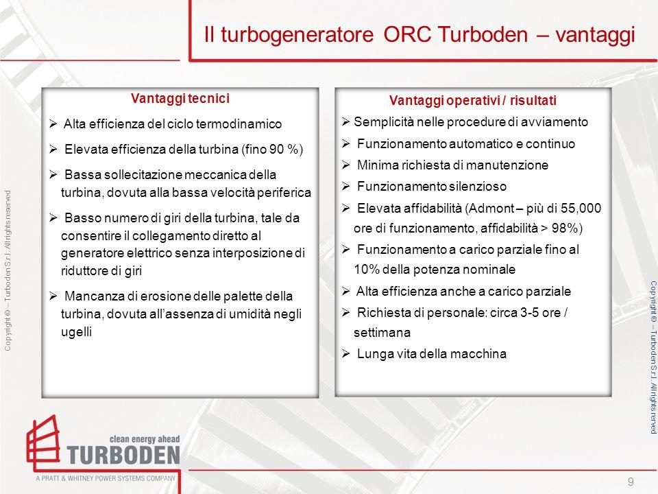 Il turbogeneratore ORC Turboden – vantaggi