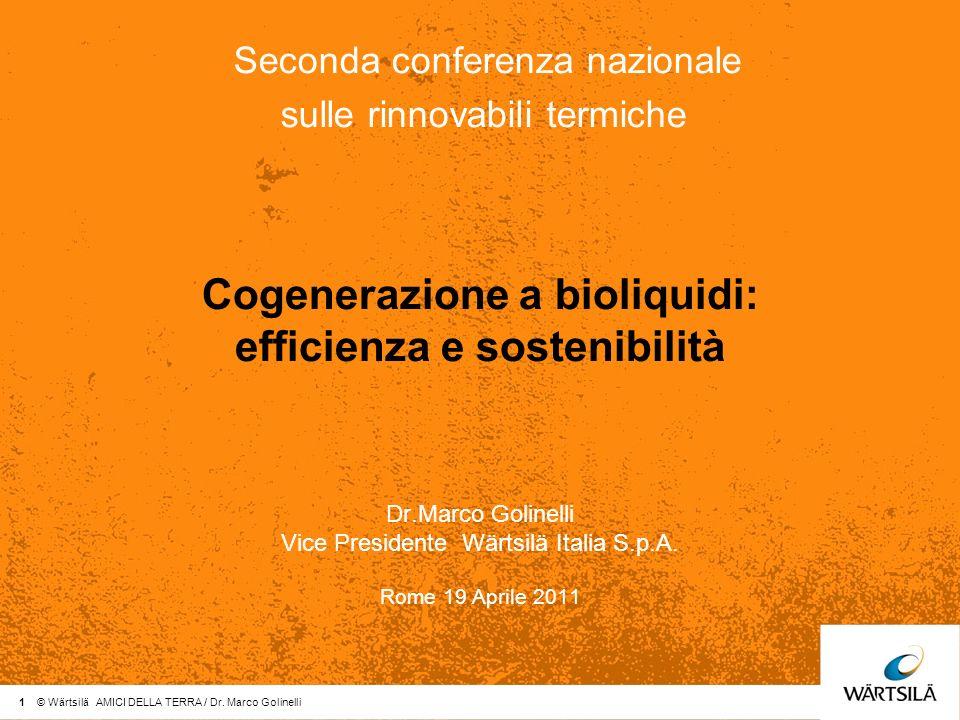 Cogenerazione a bioliquidi: efficienza e sostenibilità