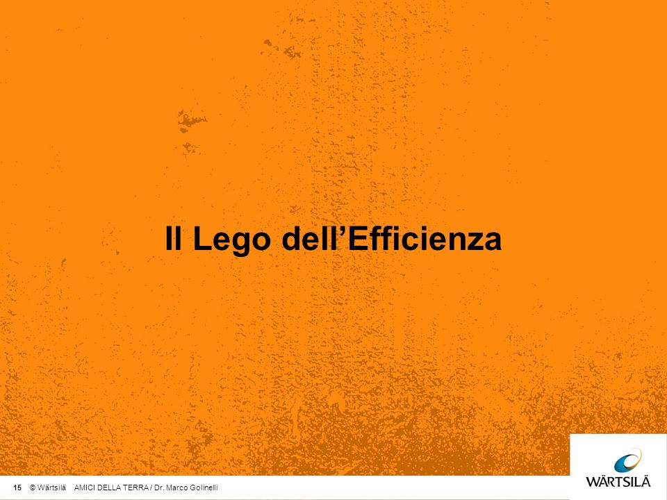 Il Lego dell'Efficienza
