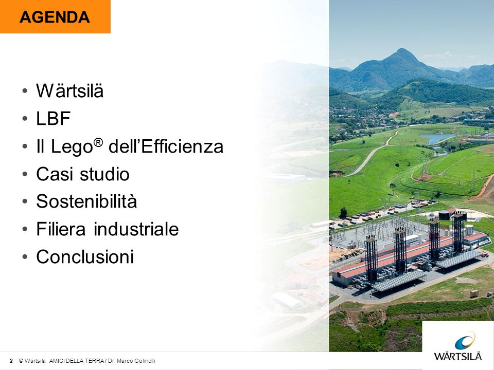 Il Lego® dell'Efficienza Casi studio Sostenibilità Filiera industriale