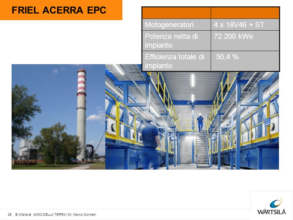 FRIEL ACERRA EPC Motogeneratori 4 x 18V46 + ST