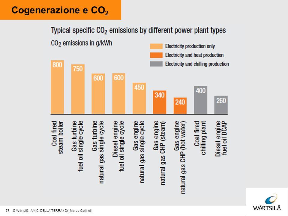 Cogenerazione e CO2 37 © Wärtsilä AMICI DELLA TERRA / Dr. Marco Golinelli