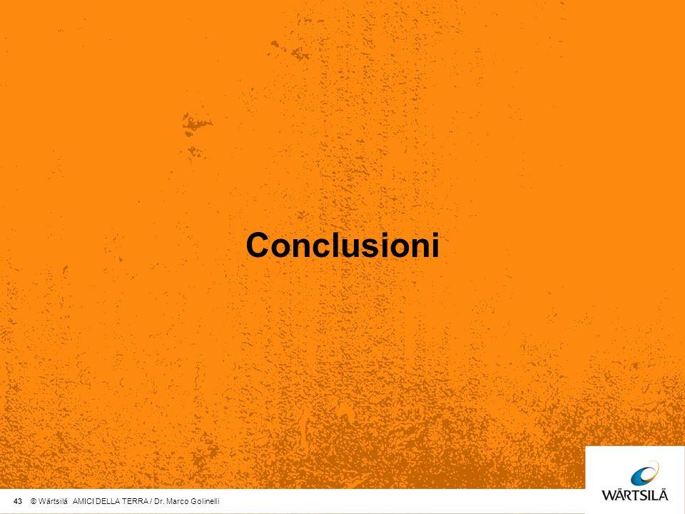 Conclusioni 43 © Wärtsilä AMICI DELLA TERRA / Dr. Marco Golinelli