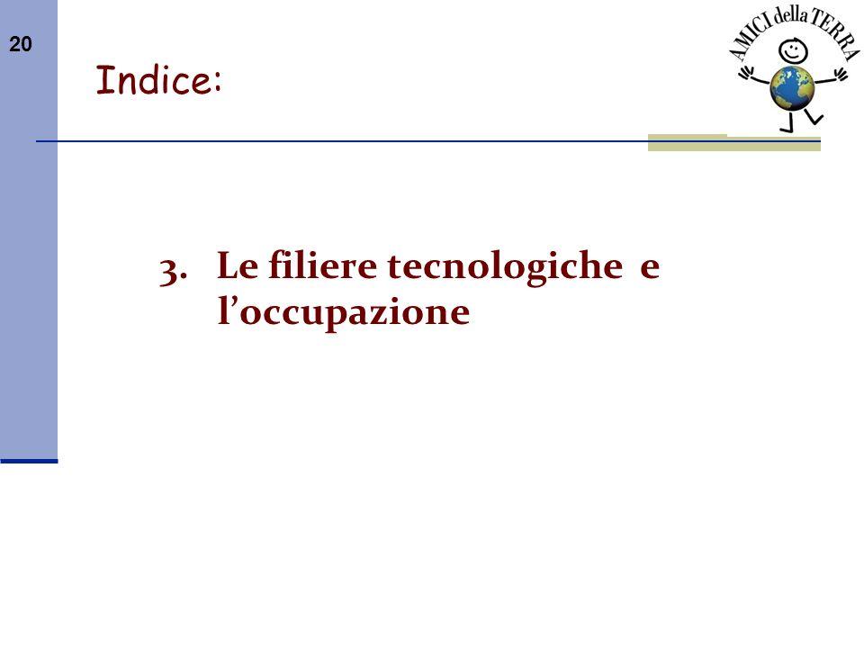 3. Le filiere tecnologiche e l'occupazione