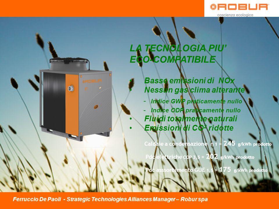 LA TECNOLOGIA PIU' ECO-COMPATIBILE Basse emissioni di NOx