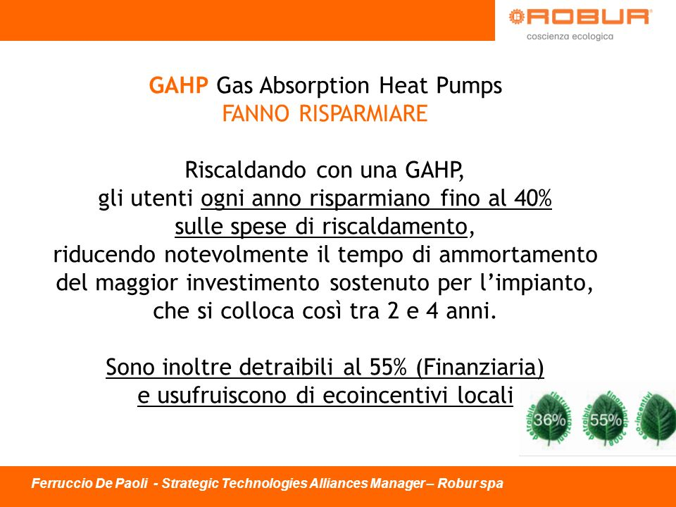 GAHP Gas Absorption Heat Pumps
