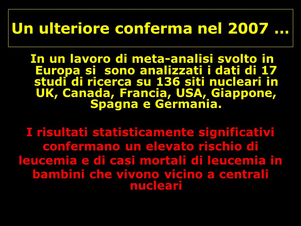 Un ulteriore conferma nel 2007 …