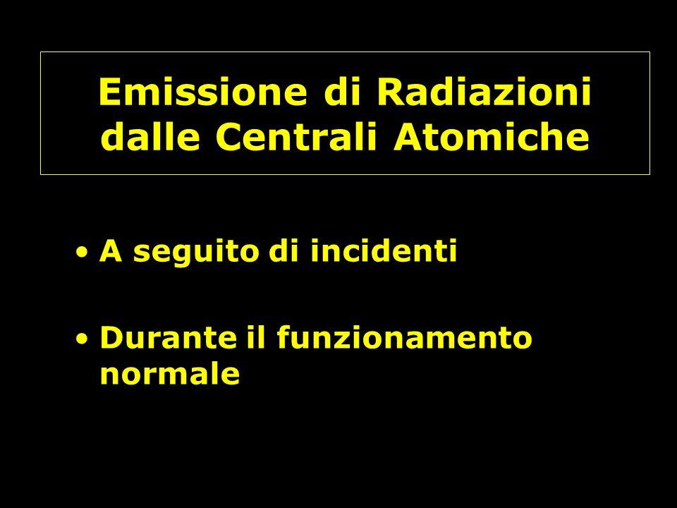 Emissione di Radiazioni dalle Centrali Atomiche