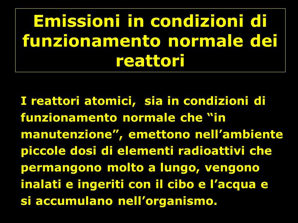Emissioni in condizioni di funzionamento normale dei reattori
