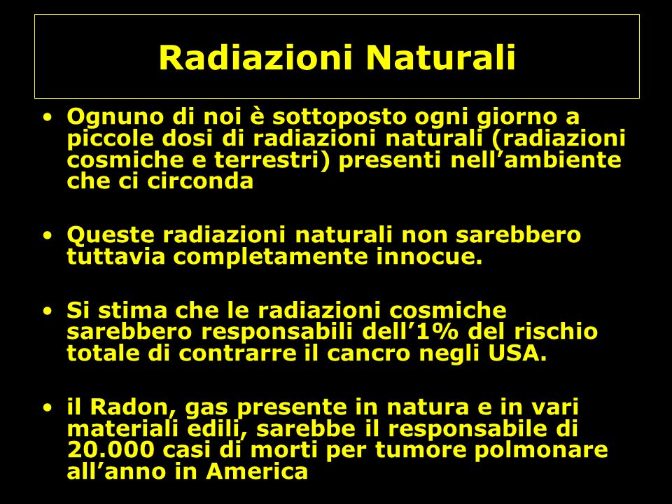 Radiazioni Naturali