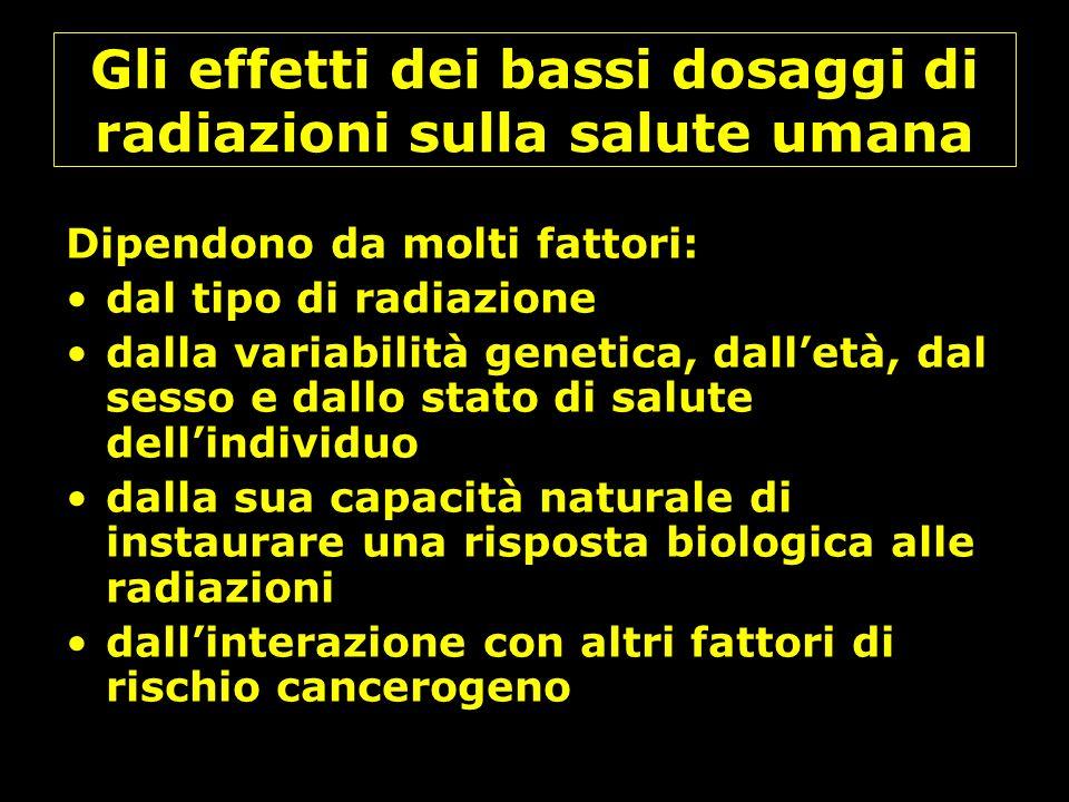 Gli effetti dei bassi dosaggi di radiazioni sulla salute umana
