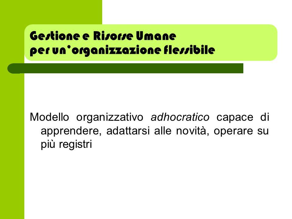 Gestione e Risorse Umane per un'organizzazione flessibile