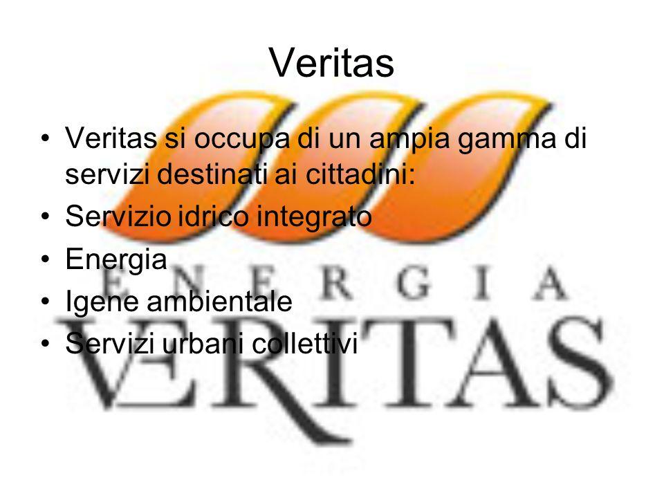 Veritas Veritas si occupa di un ampia gamma di servizi destinati ai cittadini: Servizio idrico integrato.