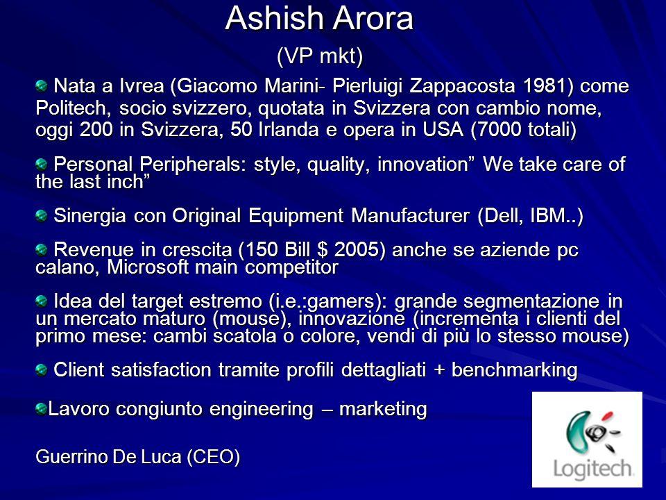 Ashish Arora (VP mkt)