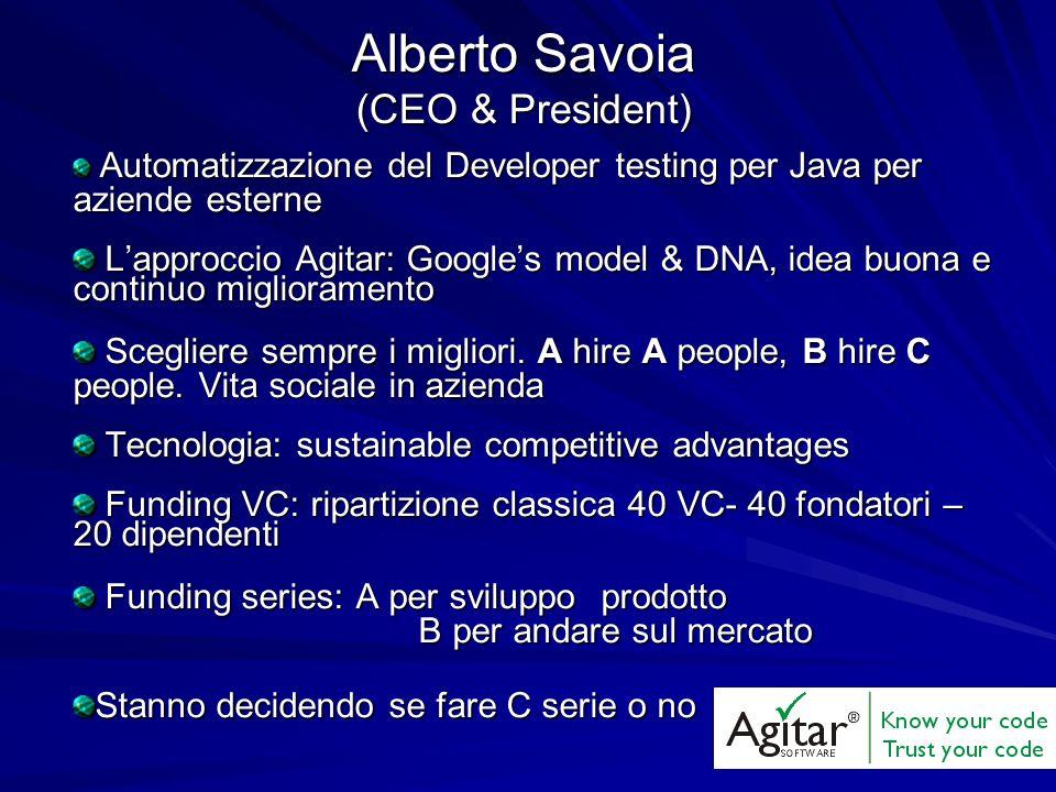 Alberto Savoia (CEO & President)