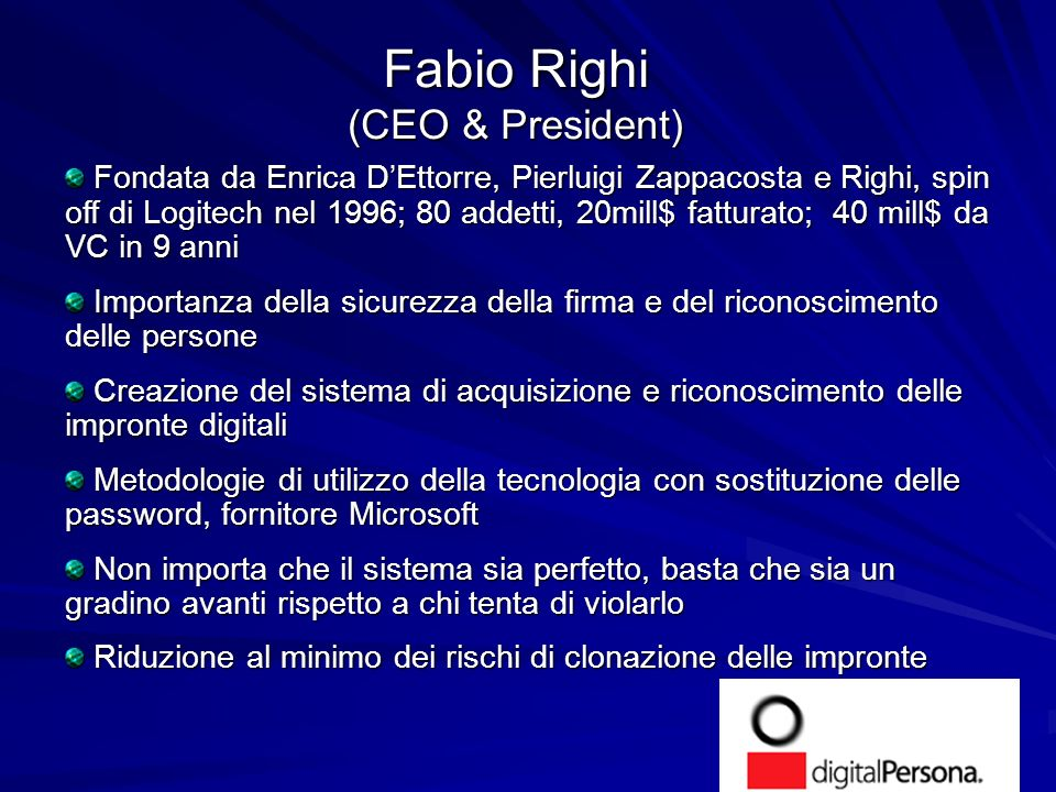 Fabio Righi (CEO & President)