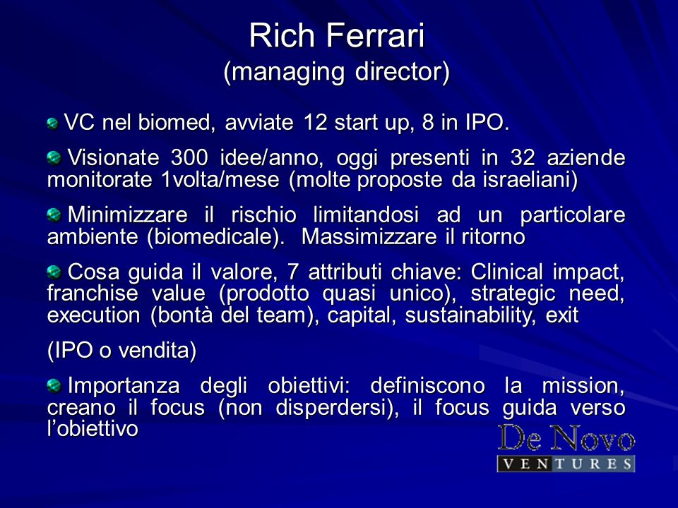 Rich Ferrari (managing director)