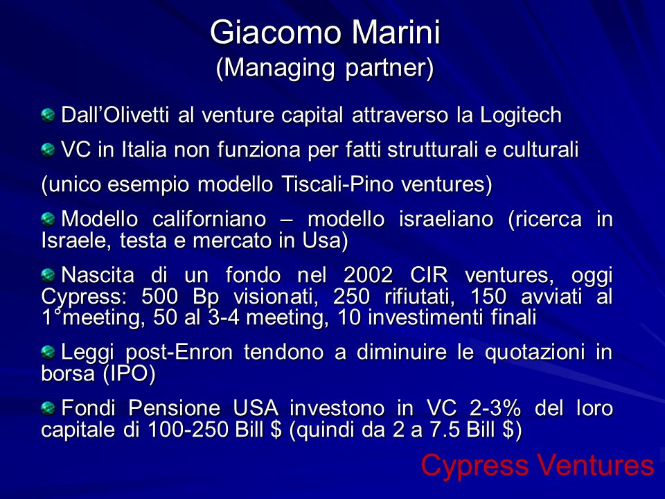Giacomo Marini (Managing partner)
