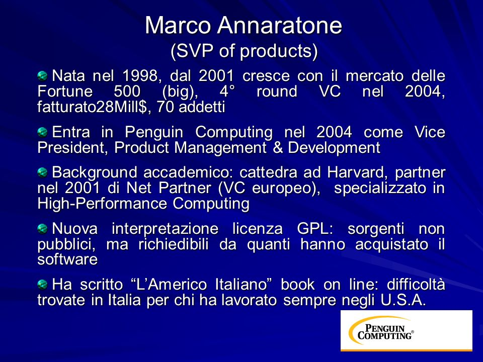 Marco Annaratone (SVP of products)
