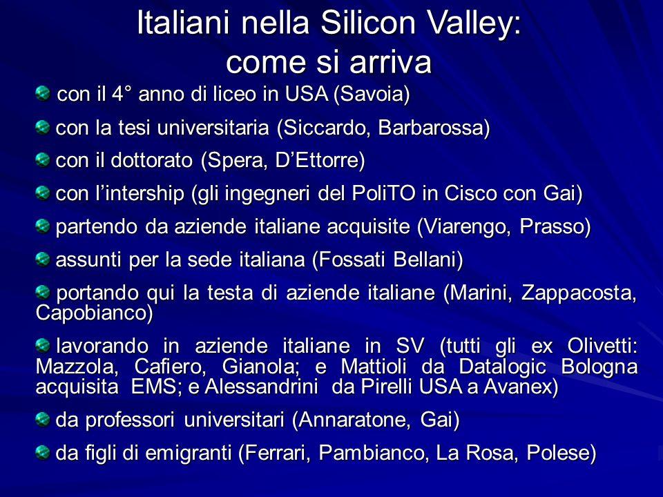 Italiani nella Silicon Valley: come si arriva