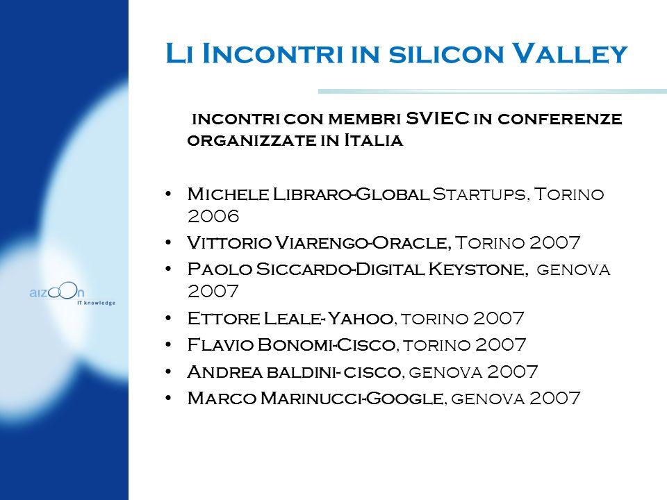 Li Incontri in silicon Valley