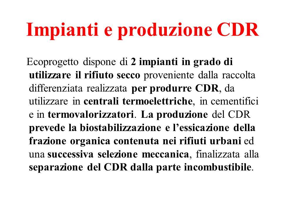 Impianti e produzione CDR
