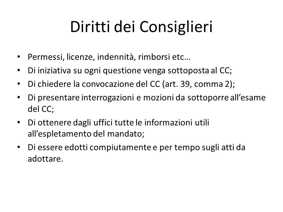 Diritti dei Consiglieri